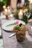 Wedding dinner Stock Images