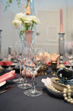 Wedding dinner reception table Stock Photography