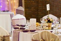 Wedding or dinner table Stock Photo