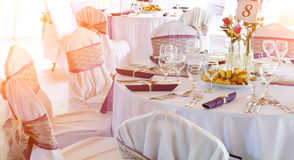 Wedding or dinner table Stock Image