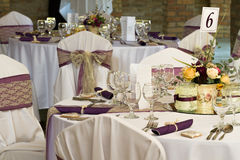 Wedding or dinner table Royalty Free Stock Image
