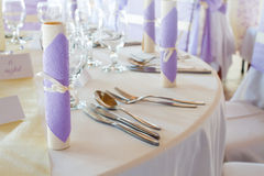 Wedding or dinner table Royalty Free Stock Images