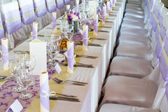 Wedding or dinner table Royalty Free Stock Photo