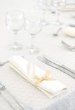 Wedding dinner table set Stock Image