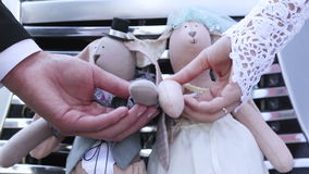 Wedding dolls stock video