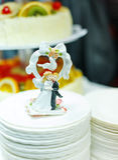 Wedding dolls posing stock image