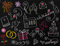 Wedding Doodle Chalkboard Icons Royalty Free Stock Photo