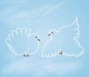 Wedding doves2 Stock Photos