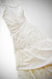 Wedding dress. Ivory wedding dress with pearls Stock Photography