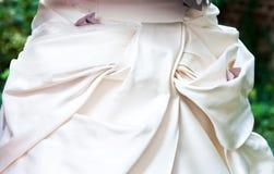 Wedding dress. Close up of a wedding dress Royalty Free Stock Photos