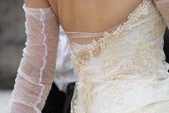 Wedding dress. Detail Stock Image