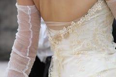 Wedding dress. Detail stock image