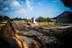 With the wedding dress` Royalty Free Stock Image