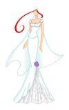 Wedding dress 3 Royalty Free Stock Photography