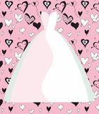 Wedding Dress. Illustration, graphic design wedding dresses in various colors Royalty Free Stock Photos