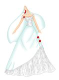 Wedding dress 4 Stock Photos
