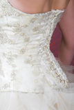 Wedding Dress. Close-up of the back of a Wedding Gown royalty free stock photography