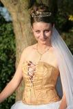 Wedding Dress. Model in wedding dress Stock Photos