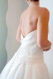Wedding dress back Royalty Free Stock Photos