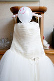 Wedding dress with balloon as a head Stock Image