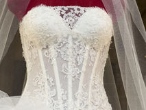 Wedding dress bodice Stock Photography