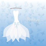 Wedding dress, bridal shower Stock Images