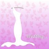 Wedding dress, bridal shower Royalty Free Stock Photos