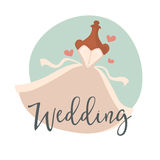 Wedding dress bridal vector illustration Royalty Free Stock Photography