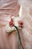 Wedding dress bride. Accessories wedding dress the bride Royalty Free Stock Image