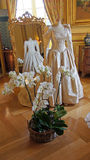 Wedding dress in chateau de Cheverny Royalty Free Stock Image