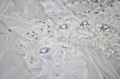 Wedding dress close up Royalty Free Stock Photography