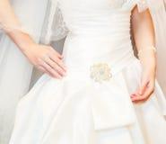 Wedding dress. Close-up Royalty Free Stock Photos