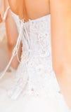 Wedding dress. Close-up Stock Photos