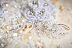 Wedding dress close up Stock Images