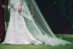 Wedding dress close-up Royalty Free Stock Image