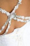 Wedding dress close-up Stock Images