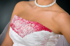 Wedding dress closeup Royalty Free Stock Photos