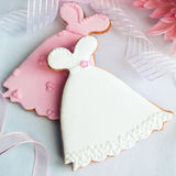 Wedding Dress Cookies Stock Photos