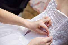 Wedding dress corset Royalty Free Stock Photography