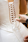 Wedding dress corset Royalty Free Stock Images