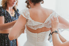 Wedding dress corset  Stock Photography