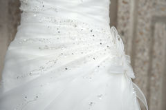 Wedding dress decoration Stock Image