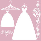 Wedding dress design set Royalty Free Stock Photography