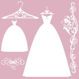 Wedding dress design set Royalty Free Stock Photography