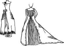 Wedding dress design sketches Royalty Free Stock Photo