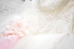 Wedding dress detail Royalty Free Stock Photography