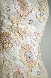 Wedding dress detail. Detail of a wedding dress Royalty Free Stock Photo
