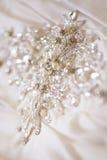 Wedding dress detail. Close up of wedding dress detail Stock Photo