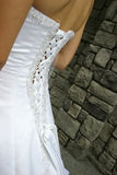 Wedding dress detail Stock Photo