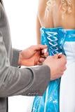 Wedding dress detail Royalty Free Stock Images